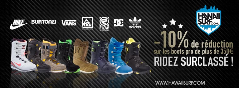 Boots de snowboard haut de gamme surclassé