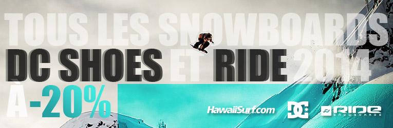 Soldes Snowboard Ride et DC Shoes 2014