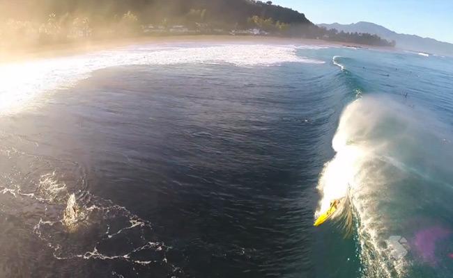 Pipeline filmé par un drone et une caméra GoPro