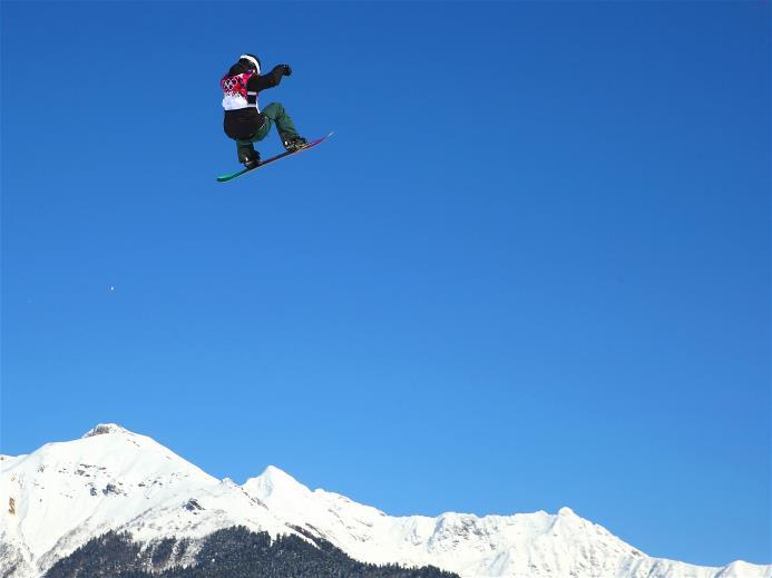 Isabel Derungs au slopestyle de Sotchi