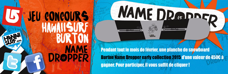 Jeu concours Burton Snowboard Name Dropper