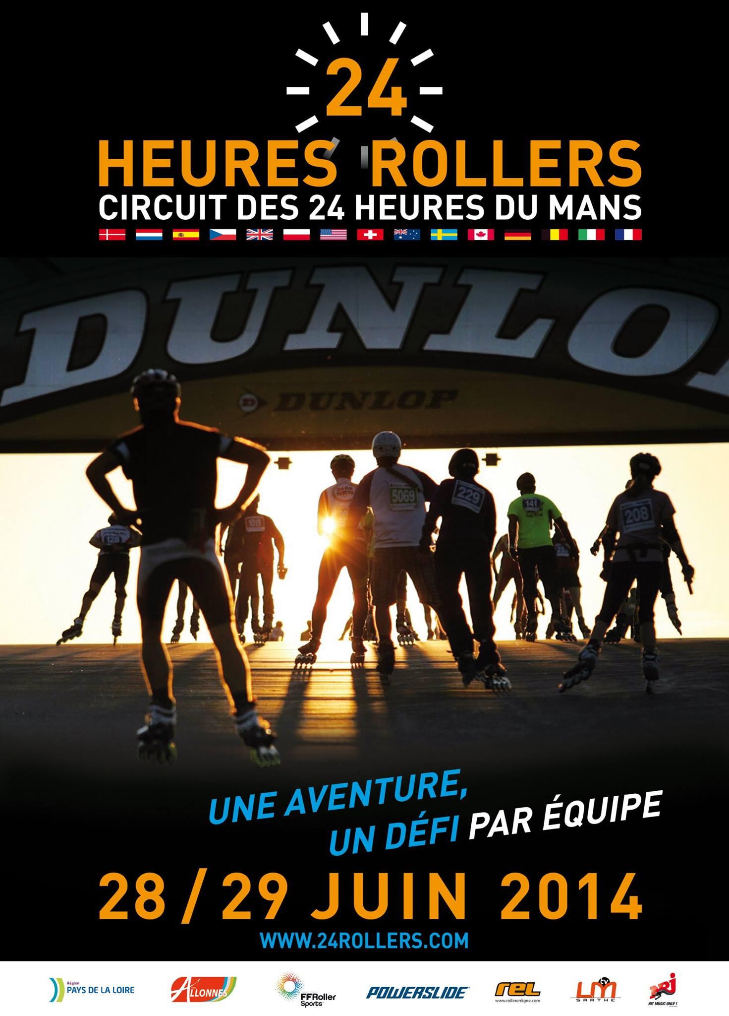 Affiche 24h Du Mans Roller 2014