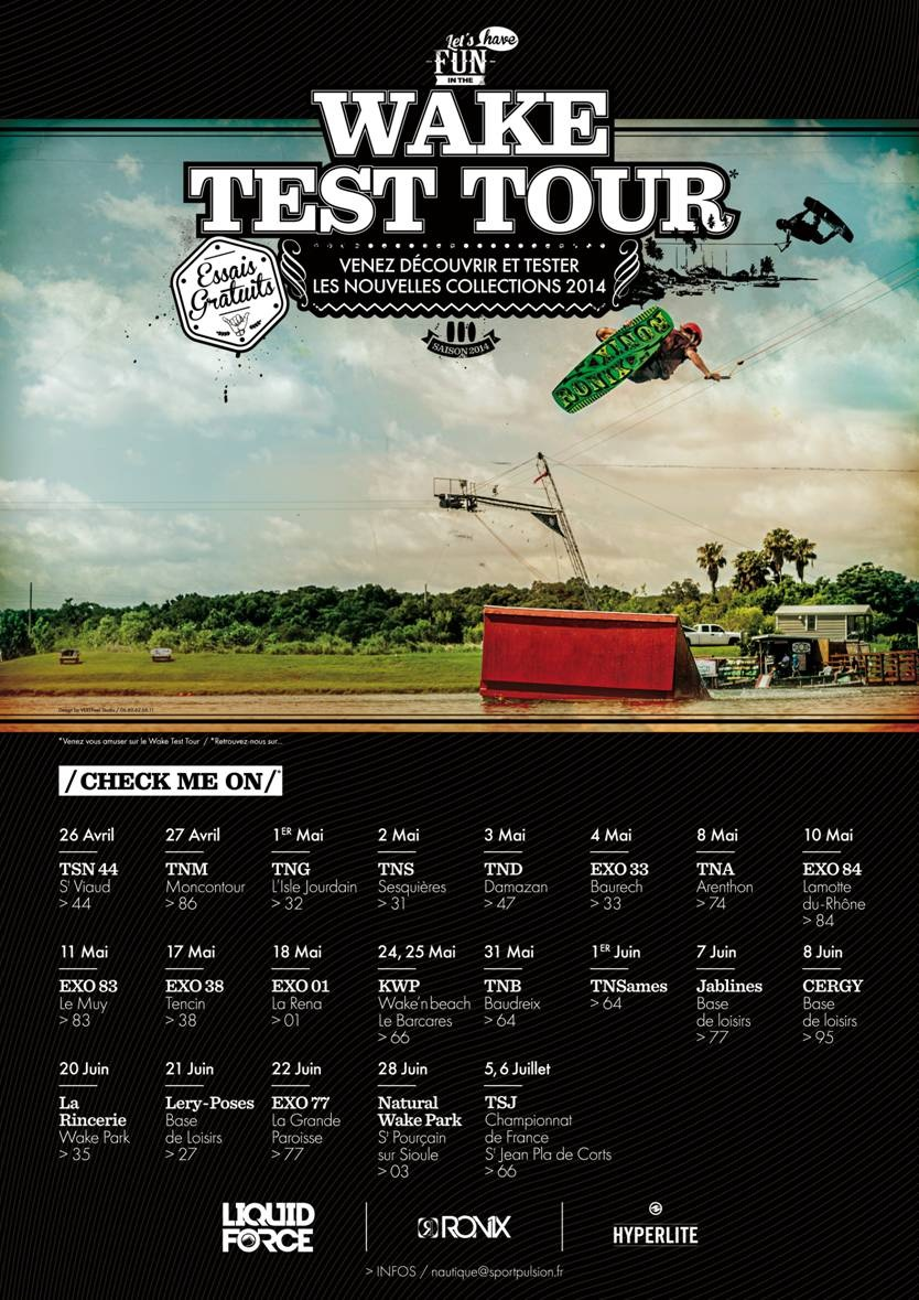 Affiche Wake Test Tour 2014