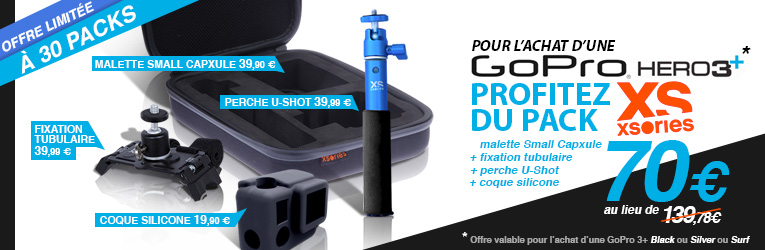 Pack Accessoire GoPro Xsories chez HawaiiSurf