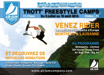 Camp Air Jam academy trottinette freestyle 2014
