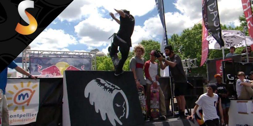 Julien Bechet 3ème du skateboard pro au Fise