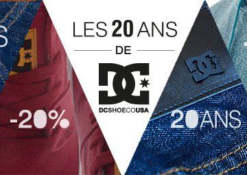 Promo DC Shoes pour les 2à ans de la marque
