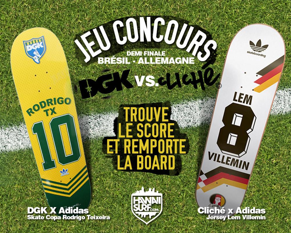 Jeu concours DGK vs Cliché - Coupe du monde Brésil Allemagne