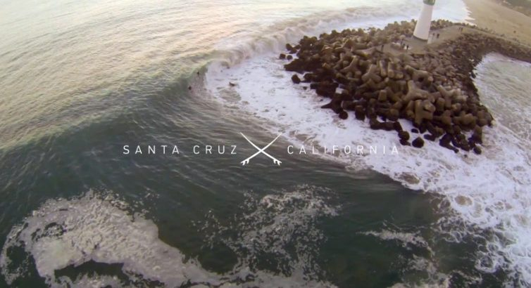 Santa cruz aerial surf video gopro