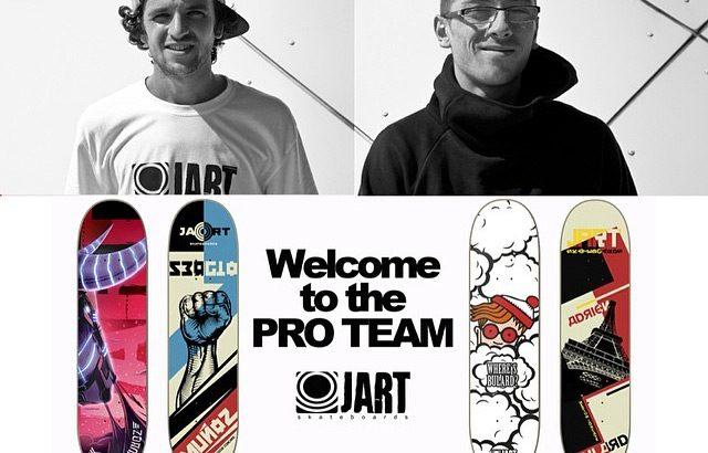 Sergio Munoz et Adrien Bulard dans le pro team Jart Skateboard