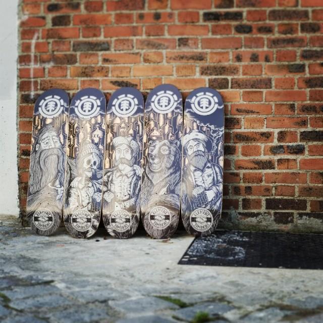 element x timberps skateboard