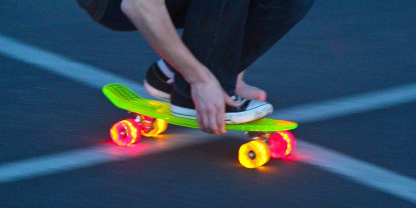 Cruiser Sunset Skateboard lumineux