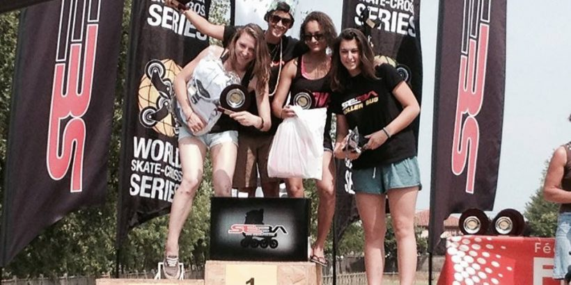 Mathilde Monneron podium CDF Skatecross