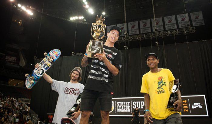Nyjah Huston remporte la Street League 2014