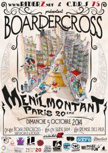 Boardercross Menilmontant skateboard Riderz paris