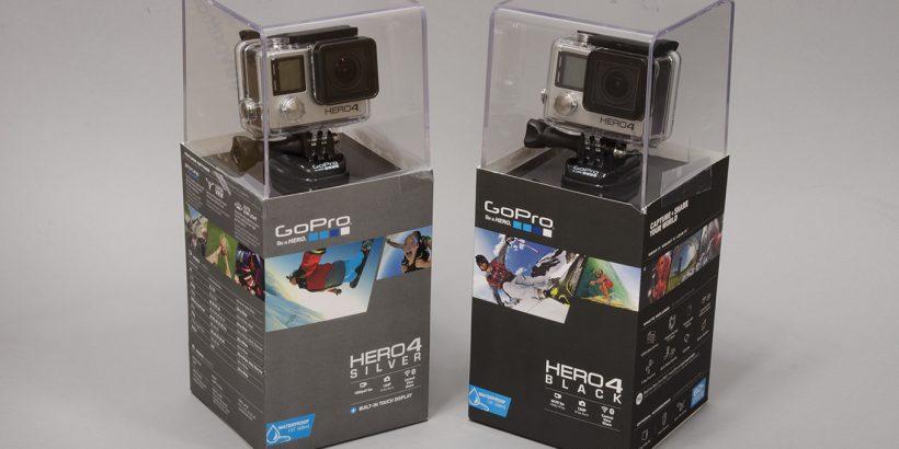 GoPro Hero4 Silver et Black Edition dans notre studio !