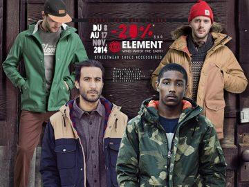 Element Streetwear shoes promo
