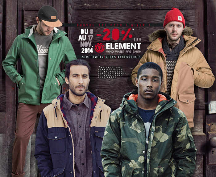 Element Streetwear shoes promo