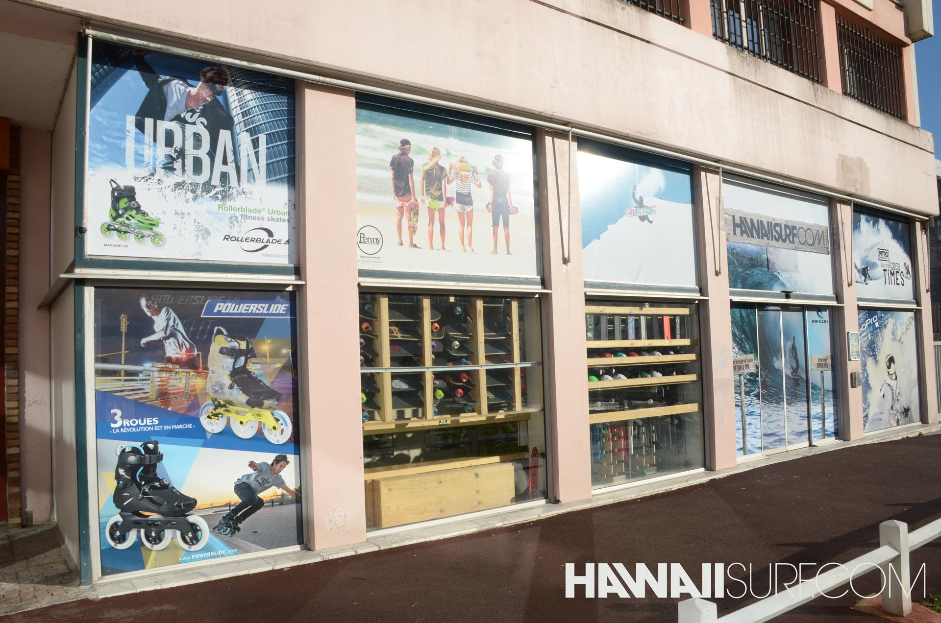Vitrine Hawaiisurf shop Ivry Paris